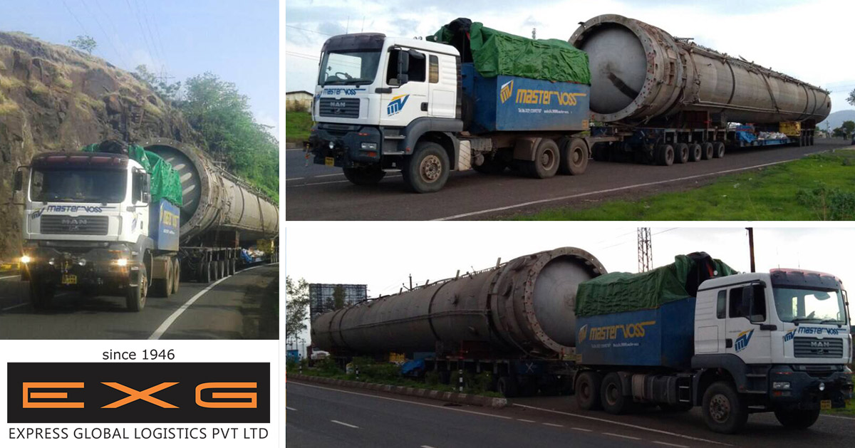 EXG completes transportation of an absorber from Panvel to Dahej