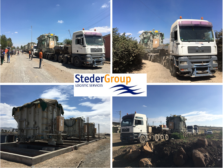 Steder Group transports 3 transformers from Djibouti to Ethiopia