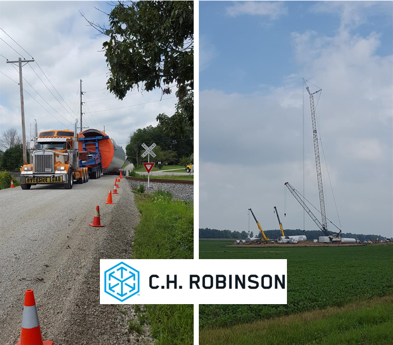 C.H. Robinson delivers 49 complete wind turbines