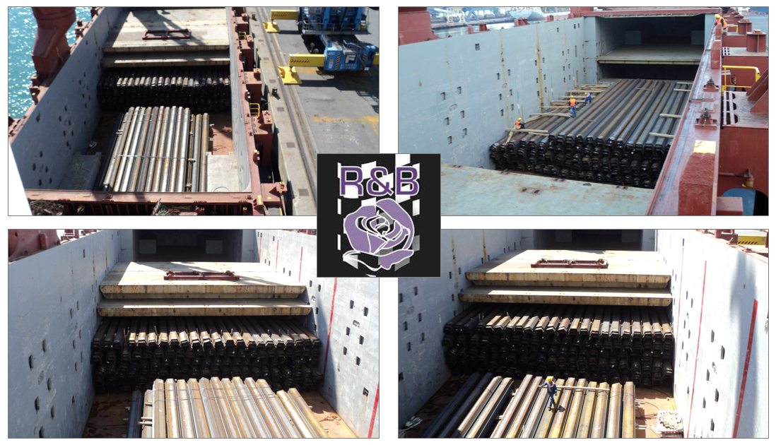 R&B Global Projects ships 3000 tons steel sheet piles