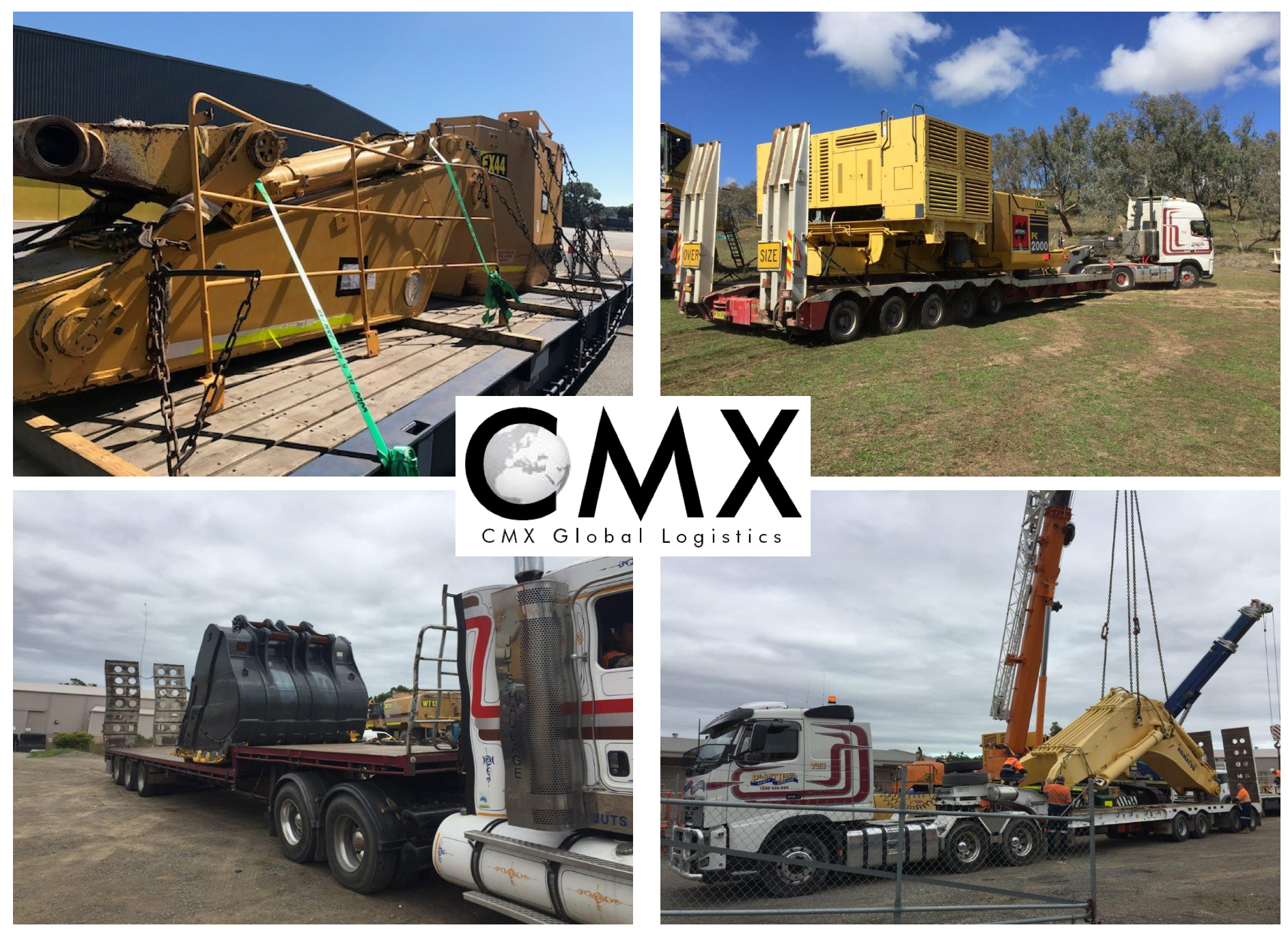 CMX just shipped 5x large excavators to Mongolia