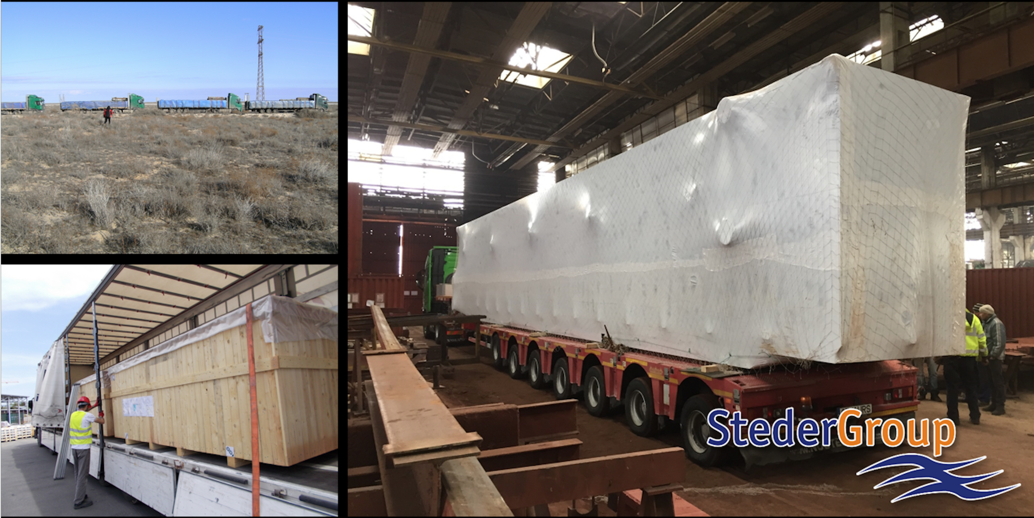 Steder Group transported drilling equipment from Romania to Turkmenistan