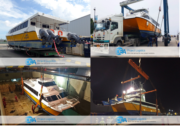 CEA manages the transport and export of a Catamaran Ferry