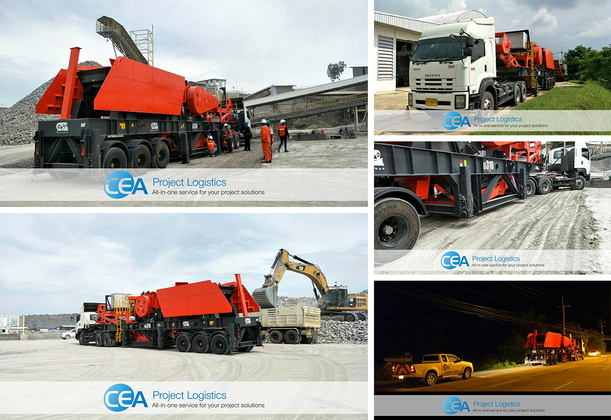 CEA with transportation and delivery of 51 Tonne Rock Crusher Machine