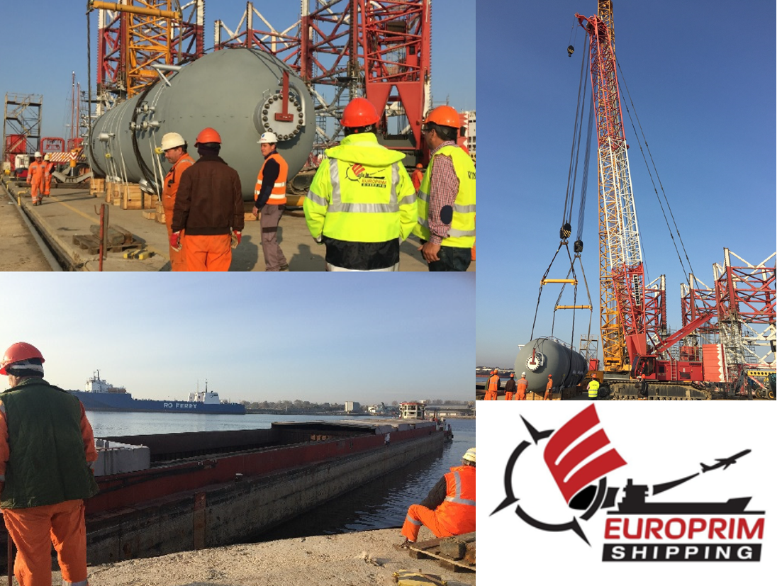 Europrim Shipping Project Cargo manages professional heavy cargo transhipment services in the Port of Constanta