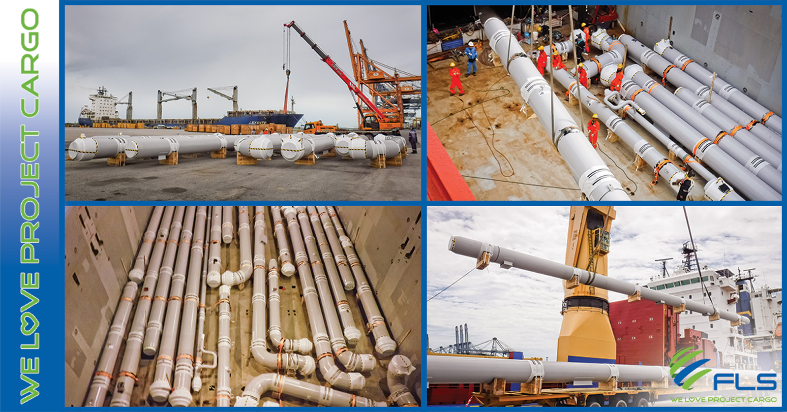 FLS Projects is shipping Vacuum Insulated Pipe Spools