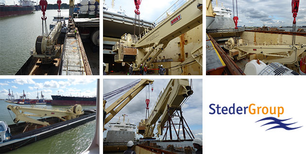 Steder Group moves Knuckle Boom Crane to the Far East