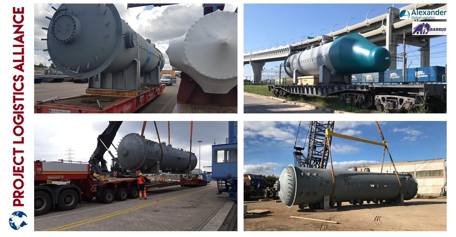 Barrus Projects And Alexander Global Logistics Deliver Heat Exchangers From Europe To Russia
