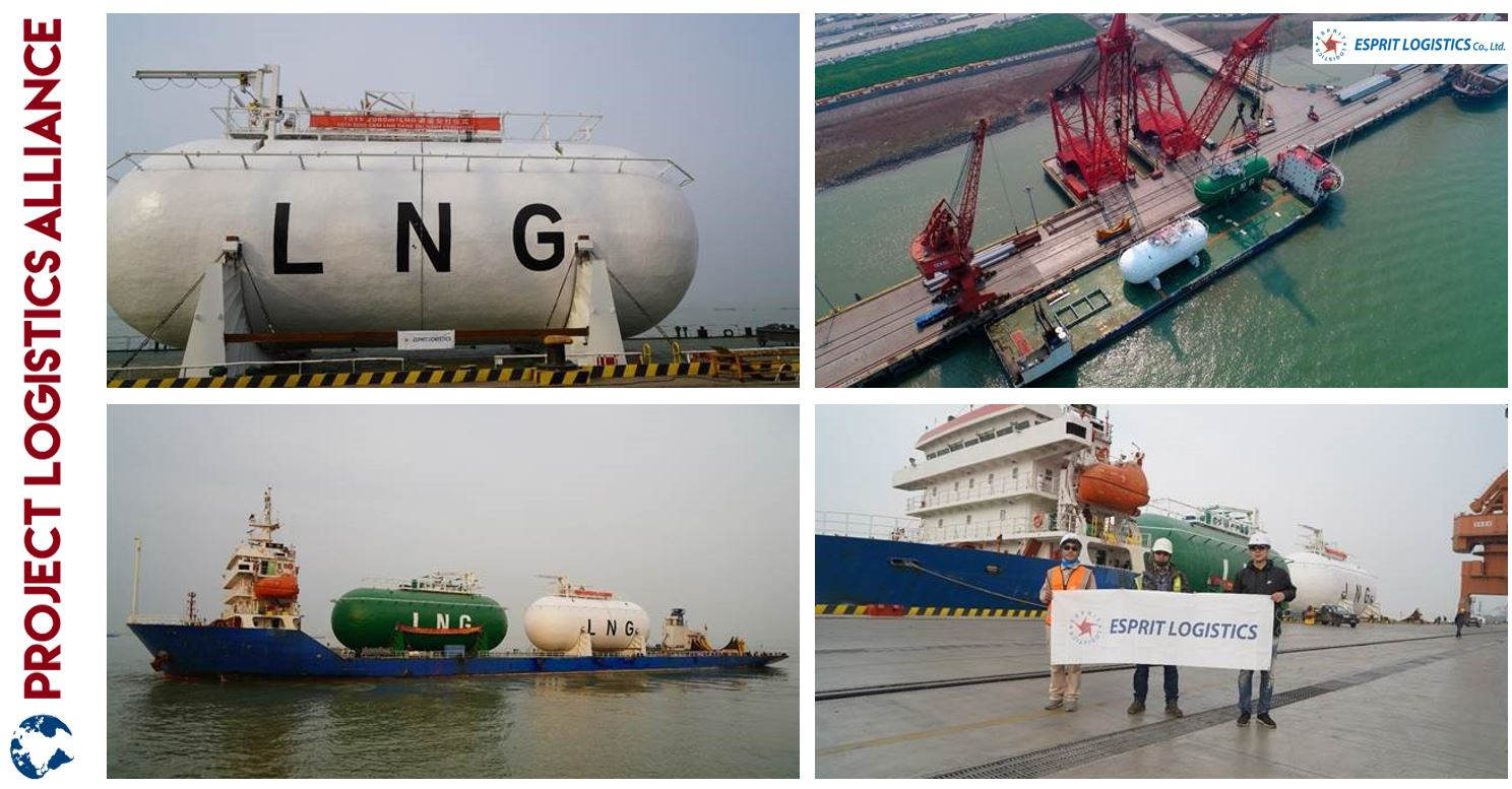 Esprit Logistics Handles LNG Tanks for Samsung Heavy Industries