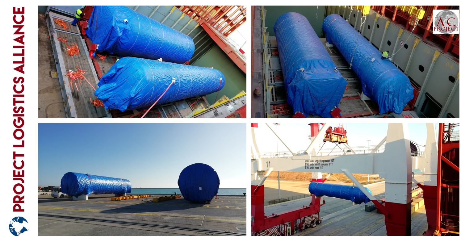 AC Projects & Forwarding Delivers Liquid Storage Tanks to Spain