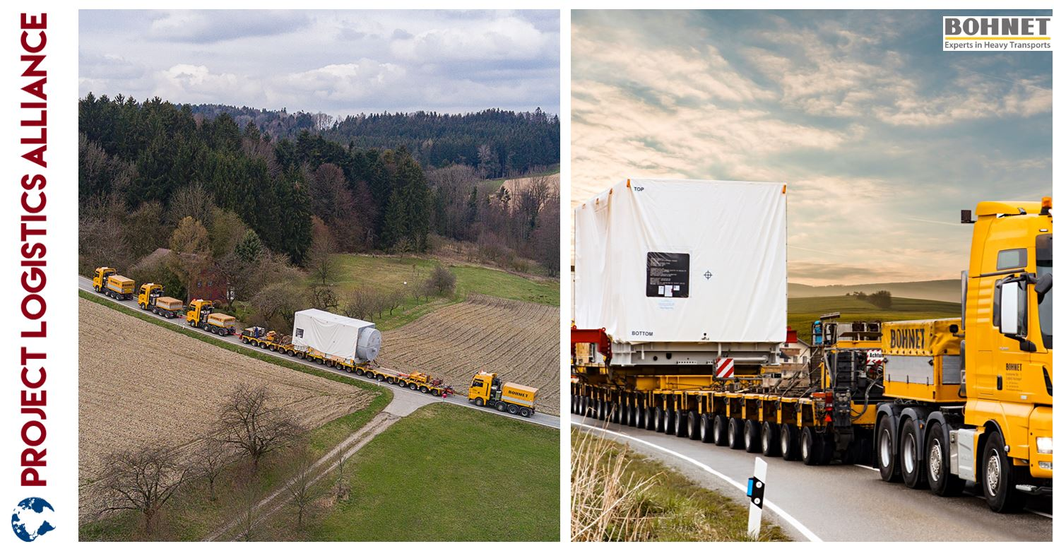 Bohnet Transports Gas Turbine in Germany