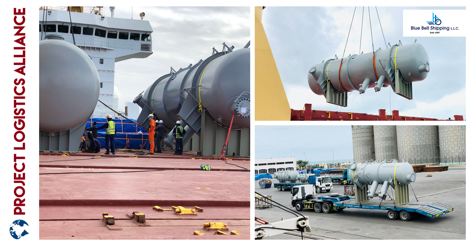 Throwback: Blue Bell Shipping Finishes Loading And Lashing Of 6 Pressure Vessels