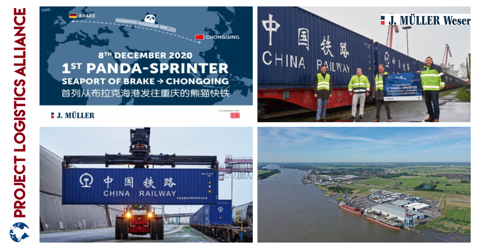 J. MÜLLER Organises The First Direct Train With Pulp To Chongqing, China