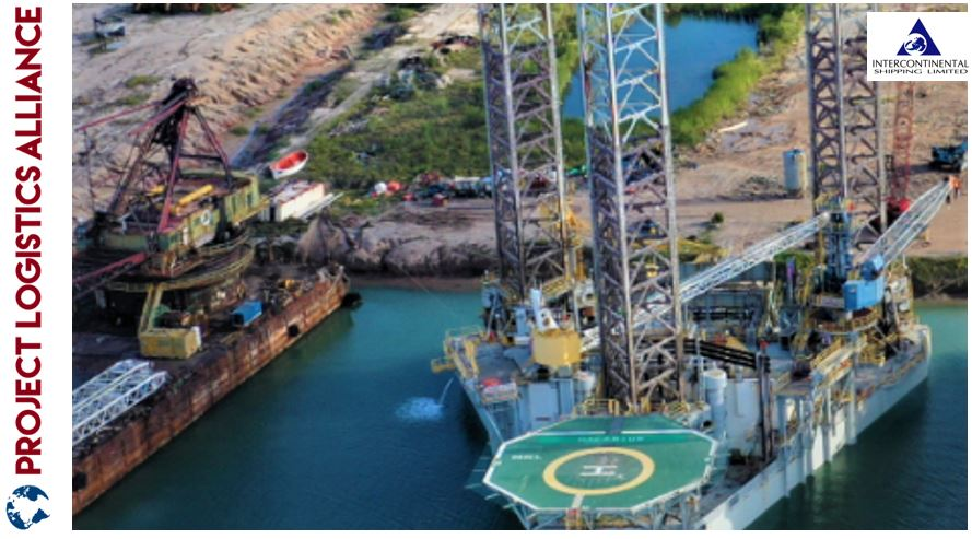 Intercontinental Shipping Imports Jack Up Barge Rig