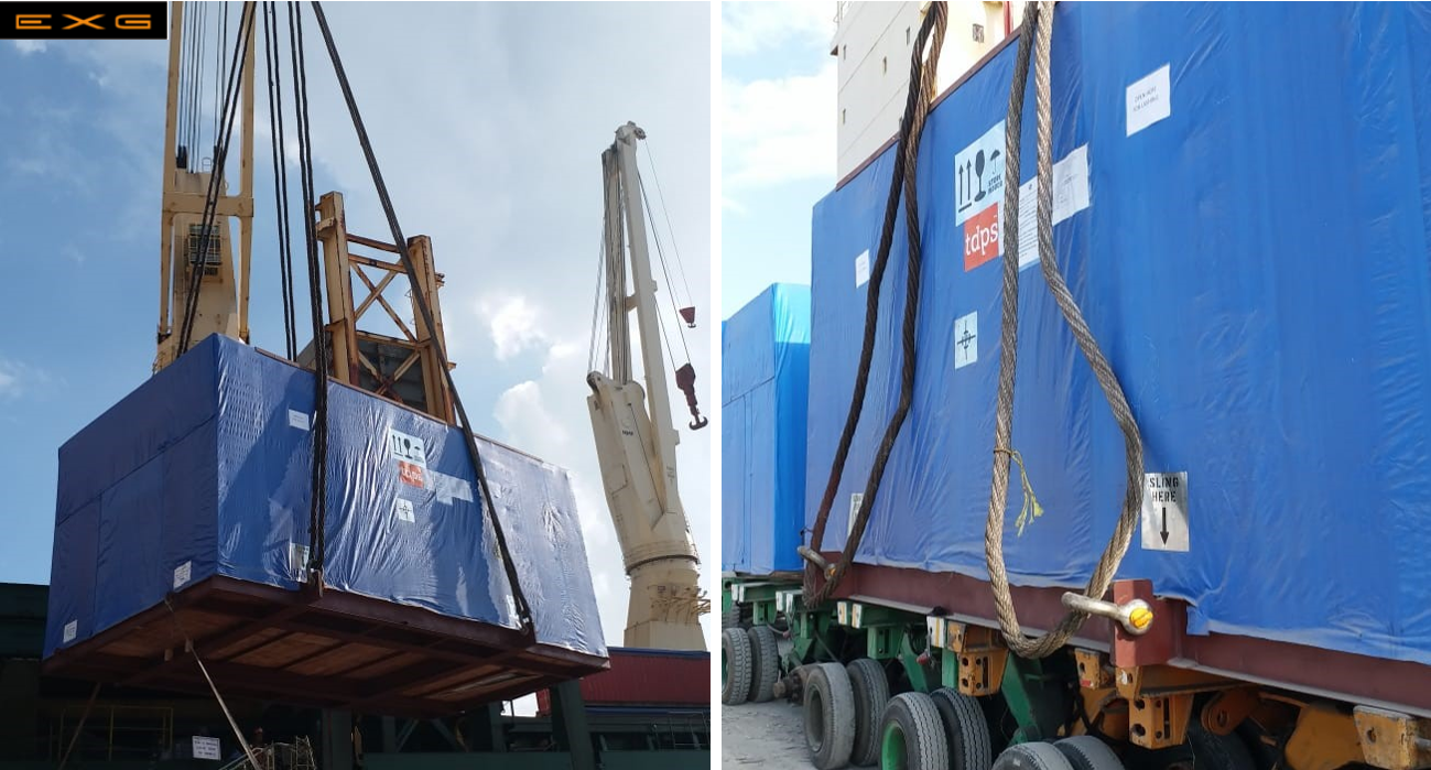 Express Global Logistics (EXG) Executed multimodal transportation from Bangalore to Tianjin, China.