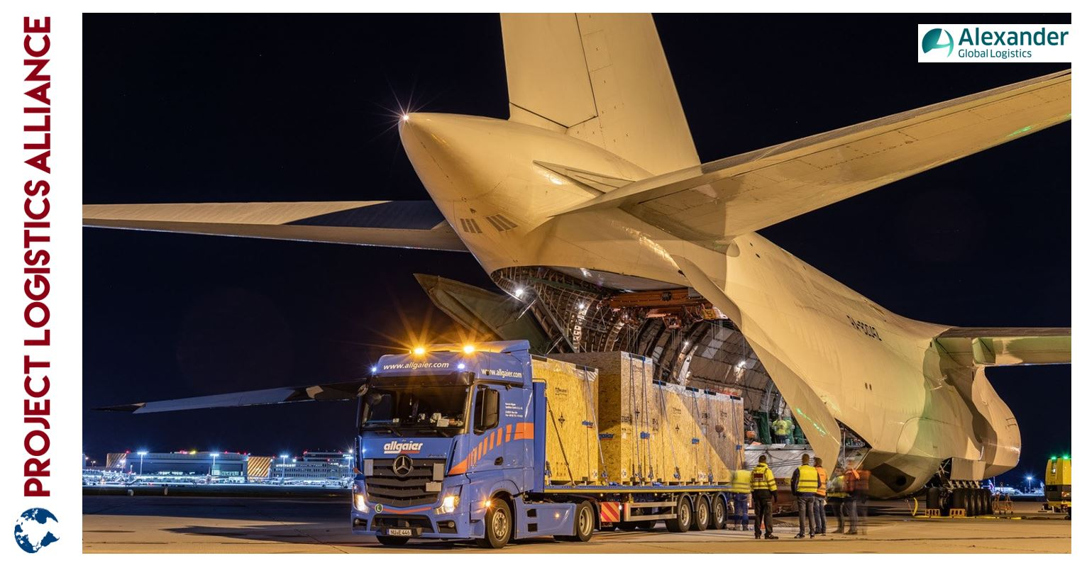 Alexander Global Logistics Charters Antonov-124 for Milling Machines