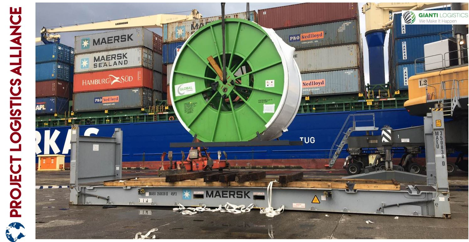 Gianti Logistics Transports Coiled Tubing for Schlumberger