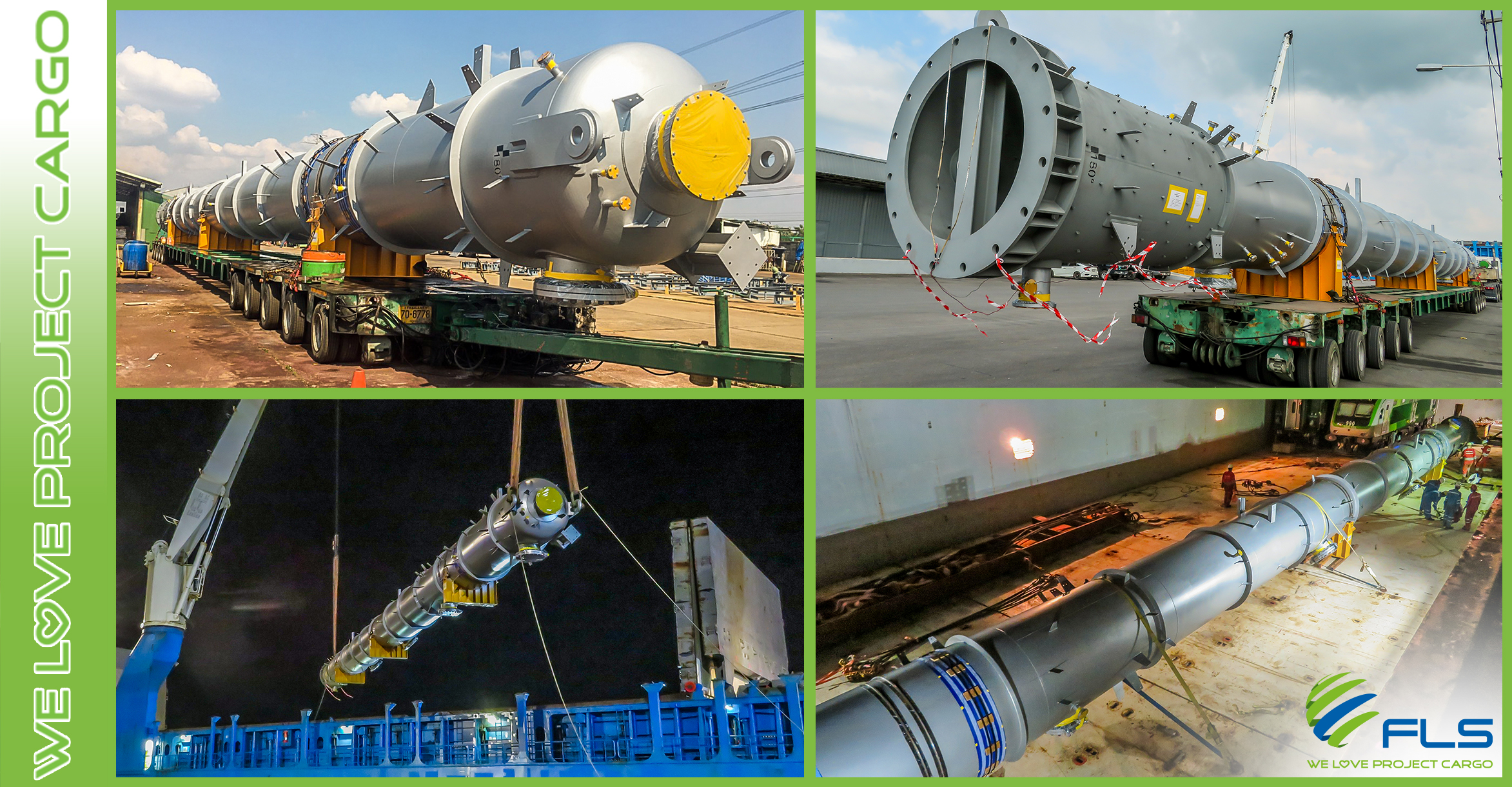 FLS Thailand Delivering a 40 meters Long Purification Tower from Thailand to Singapore