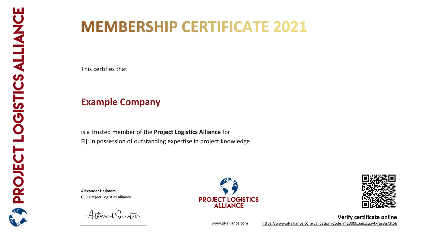Project Logistics Alliance Launches Digitally Verifiable Certificates