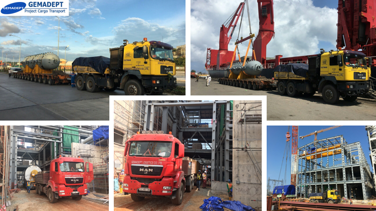 Gemadept Logistics Transports Thermal Power Plant