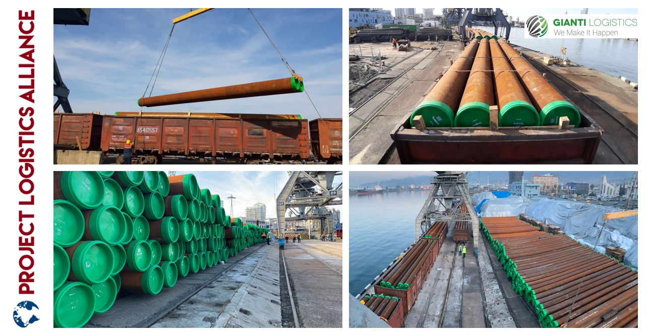 Gianti Logistics Delivers Pipes Via Sea and Rail Integrated Solution