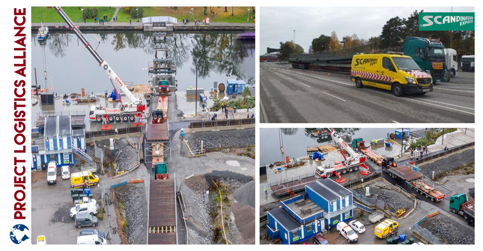 Scandinavian Express Delivers Bridge Sections To Norrtälje, Sweden