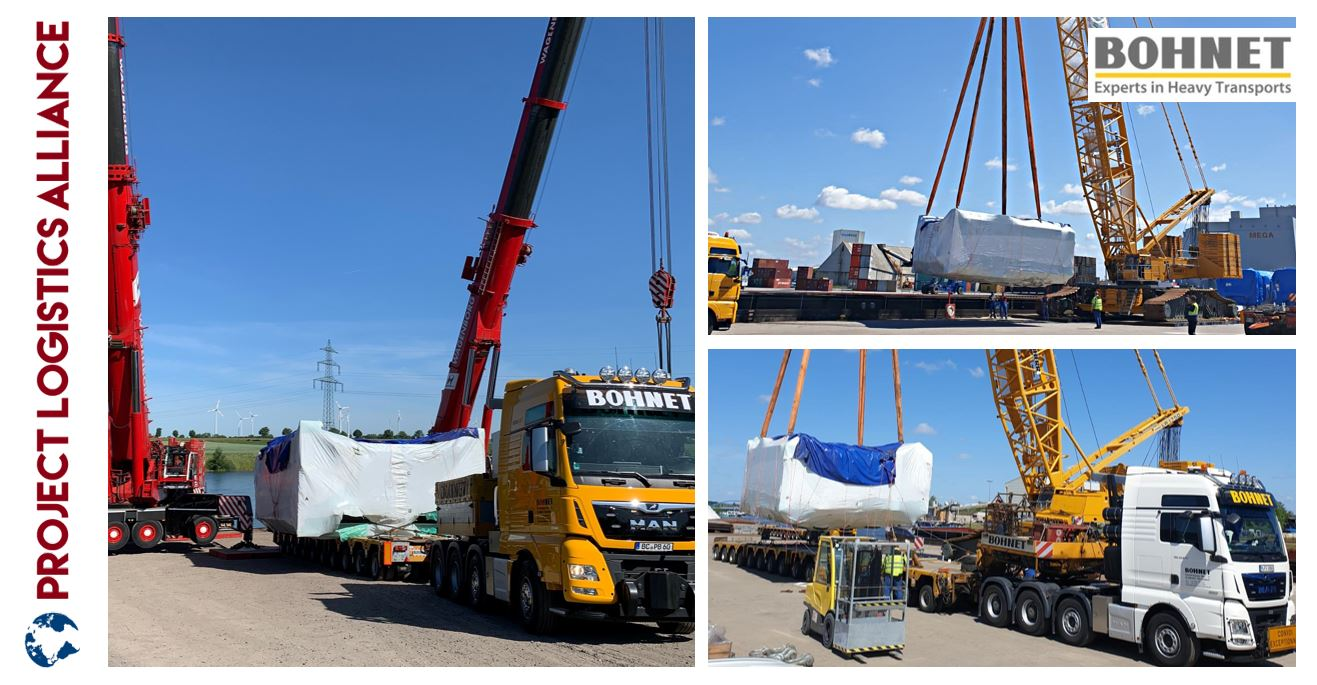 Bohnet Manages Multimodal Transport Of 160 Ton Body