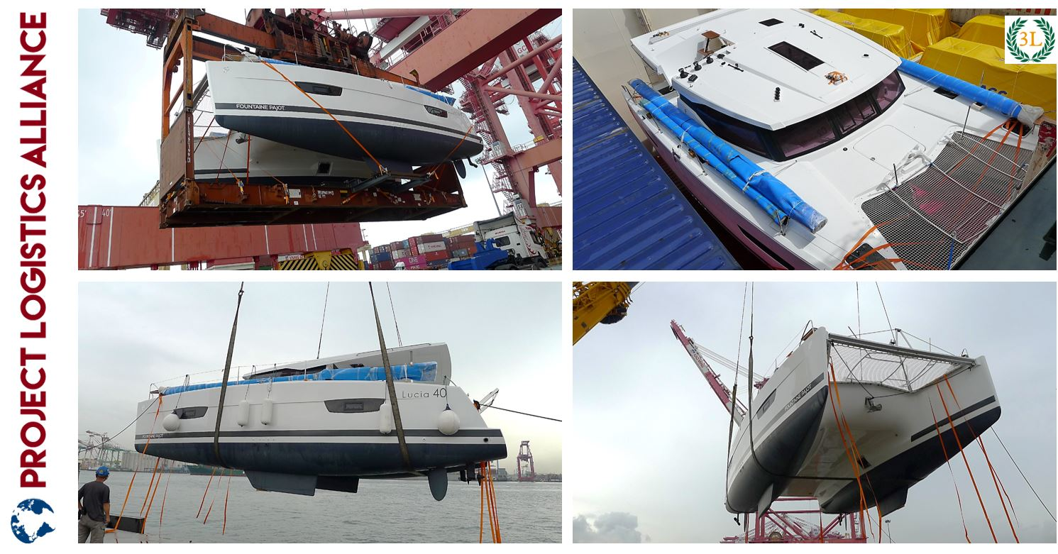 40' Sailing Catamaran delivery ex France to water Kaohsiung, Taiwan