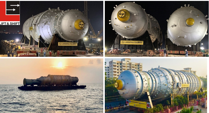 Lift & Shift Successfully Transports and Delivers the Heaviest & Widest Crude & Vacuum Columns on Indian Roads
