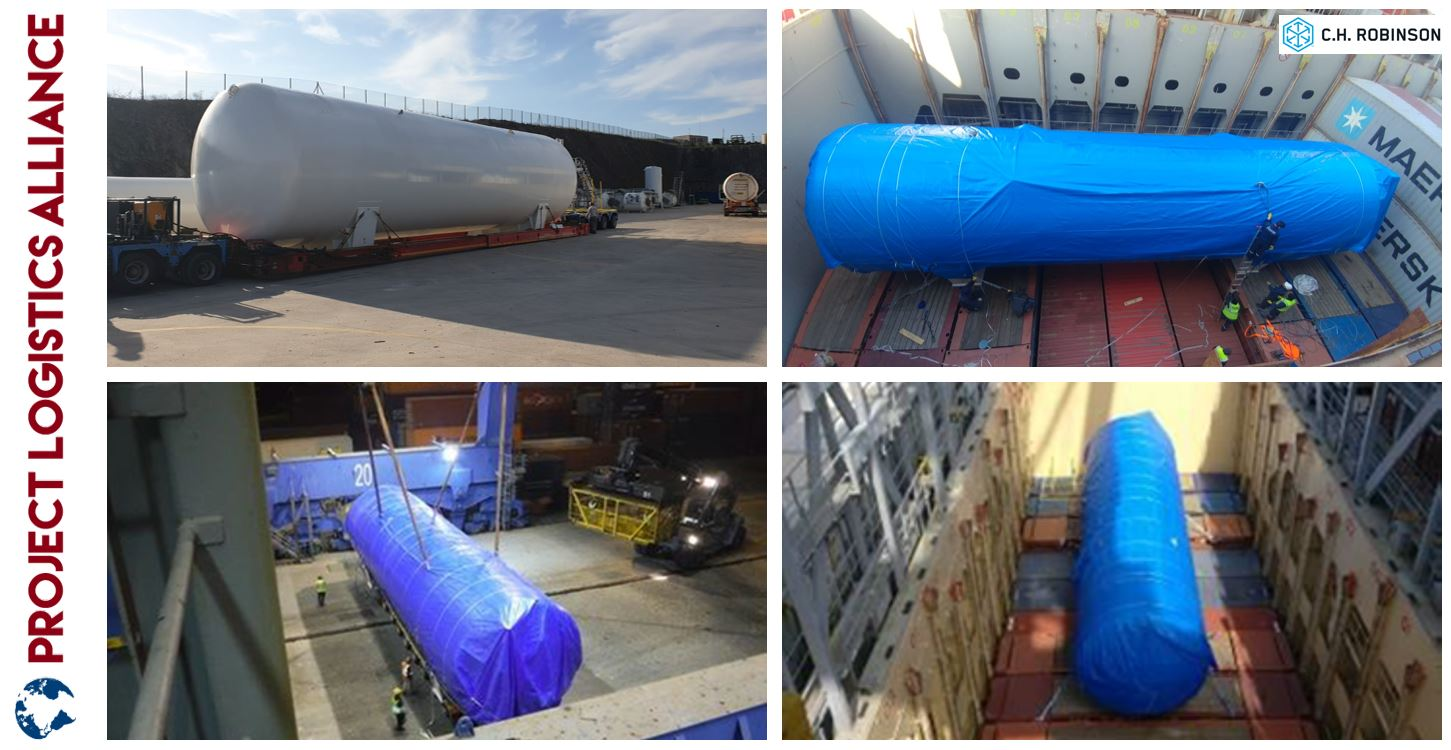 C.H. Robinson Transports Large Tank from Turkey to Argentina