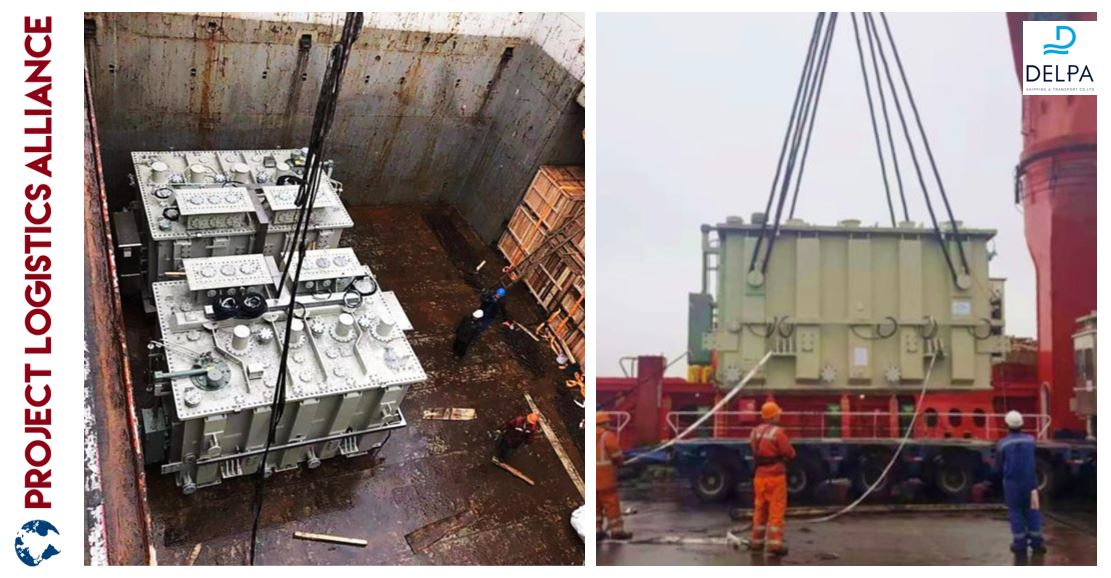 Delpa Shipping & Transport Moves Transformers for Power Plant