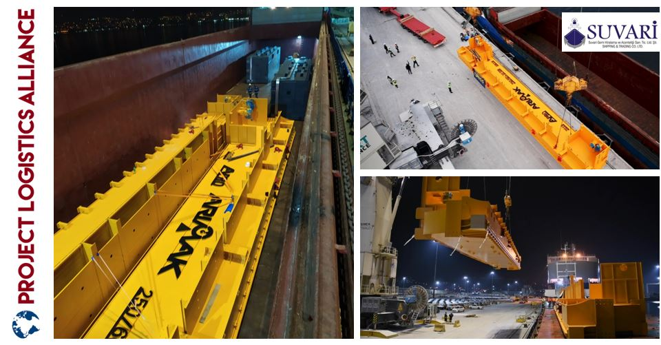 Suvari Shipping Handles Oversized Crane Equipment