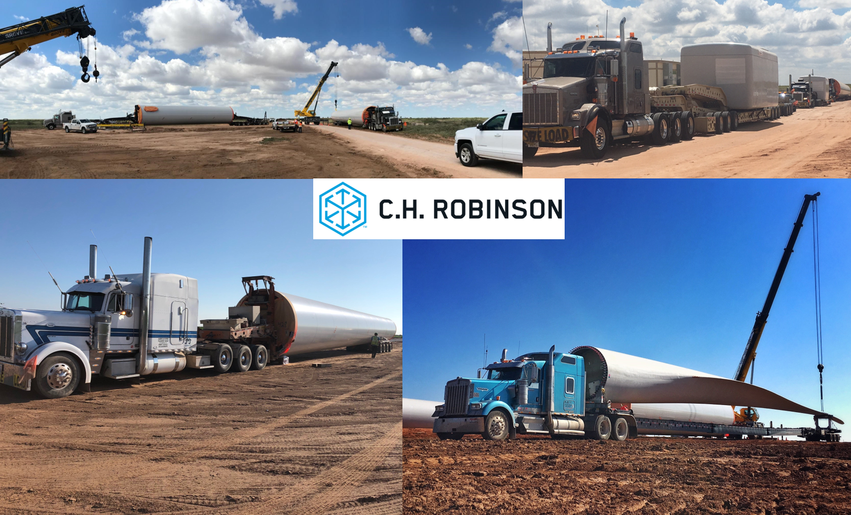 C.H. Robinson oversaw deliveries to six new U.S. Wind Farms in 2018