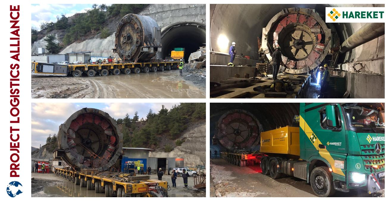 Hareket Heavy Lifting Executes Challenging Move Of Tunnel Boring Machine Part