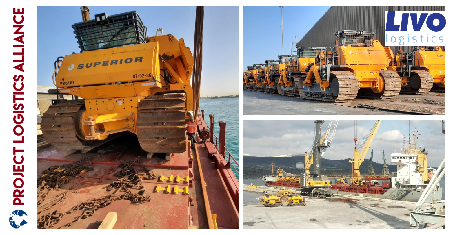 LIVO Logistics Ships 82 Machines Construction Equipment From Bulgaria To Saudi Arabia