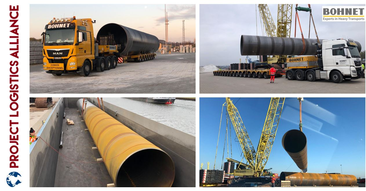 Bohnet Carries Heavy & Oversized Tubes Onto Barge