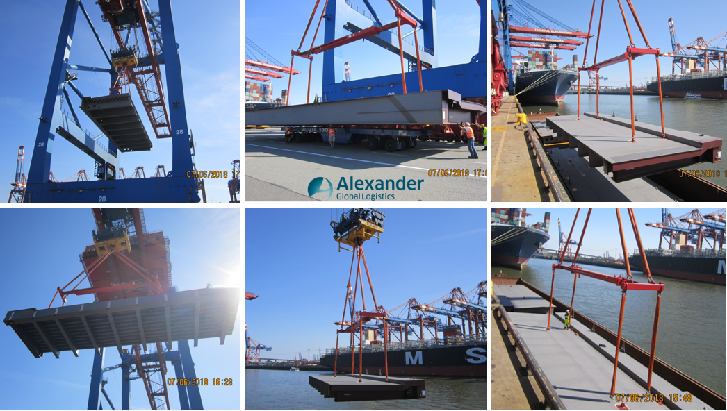 AGL handles super long units for Bridge Steel Structures in the Port of Hamburg