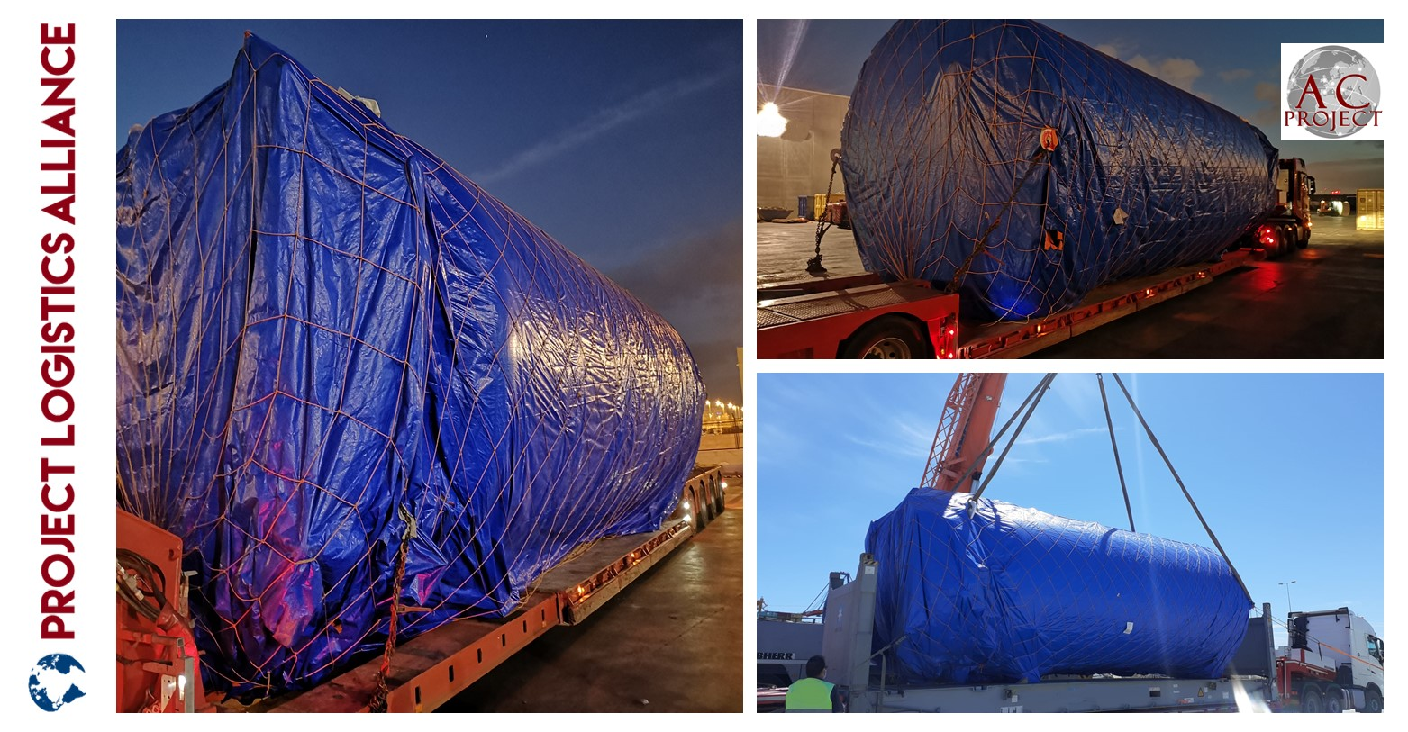 AC Projects Unloads Cryogenic Tanks Under The Weather