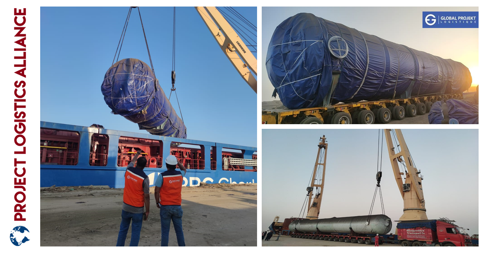Global Projekt Logistique Concludes The Year With The Transport Of Heavy Equipment For An Ethanol Plant