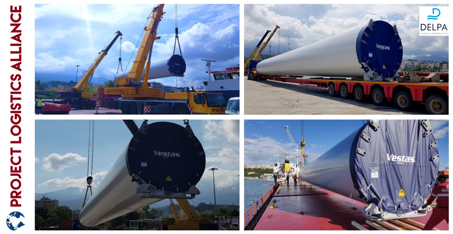 Delpa Shipping & Transport Completes Transport of Wind Turbine Generators