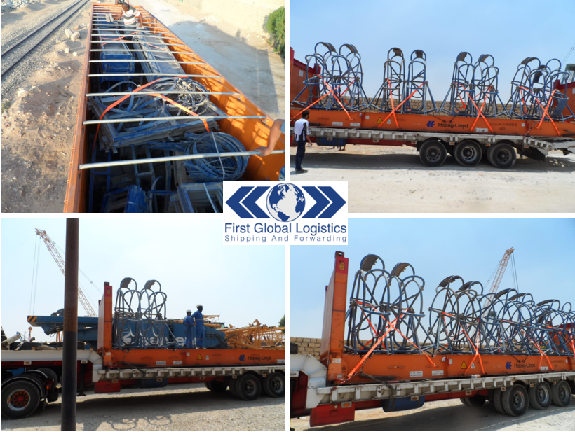 Sarens Heavy Lift Crane parts from Egypt to Antwerp