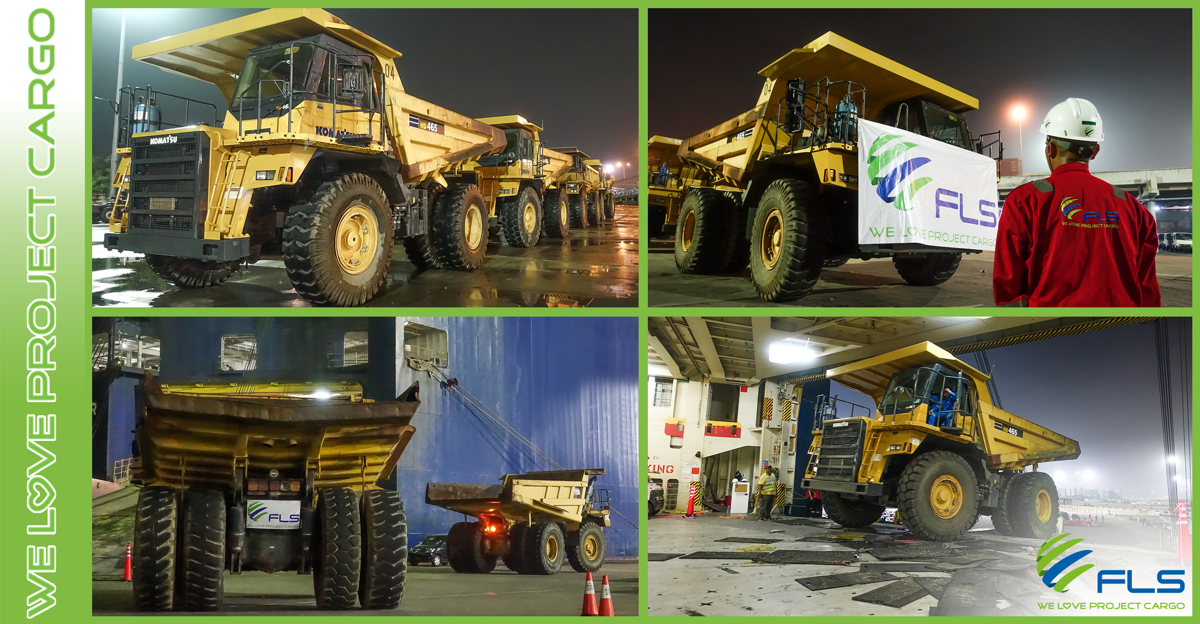 FLS Projects Delivers Dump Trucks To Asia